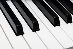 Взгляд угла клавиатуры рояля Стоковое Изображение