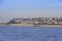 Взгляд утра берега около Manhattan Beach и Redondo Beach Стоковое Изображение