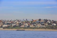 Взгляд утра берега около Manhattan Beach и Redondo Beach Стоковое Фото