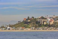 Взгляд утра берега около Manhattan Beach и Redondo Beach Стоковая Фотография