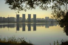 Взгляд утра Киева, Украины Стоковые Изображения RF