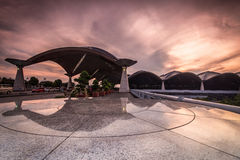 Взгляд утра международного аэропорта Куалаа-Лумпур. Стоковое фото RF
