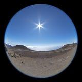 Взгляд утра от вершины Haleakala стоковые фото