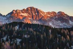 Взгляд утра от Komna Стоковое Фото