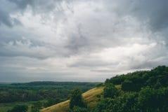 Взгляд утра долины Стоковые Изображения RF