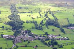 Взгляд участков земли Йоркшира вдавленного места сверху Стоковое Изображение