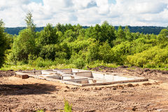 Взгляд учреждения строительной площадки и дома стоковые фото