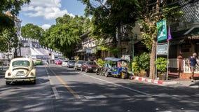 Взгляд улицы Бангкока Стоковое Изображение RF