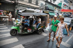 Взгляд улицы в Бангкоке Стоковая Фотография RF