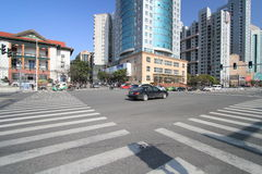 Взгляд улицы в городе Наньчана стоковое фото rf