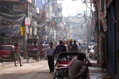 Взгляд улицы в Индии стоковые изображения rf