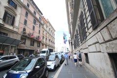 Взгляд улицы в Риме, Италии Стоковое фото RF