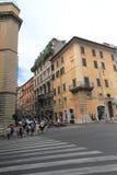 Взгляд улицы в Риме, Италии Стоковые Фотографии RF