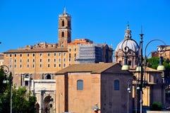 Взгляд улицы в Риме Стоковые Фото
