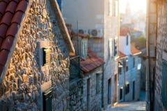 Взгляд улицы в старом городе Стоковые Фотографии RF