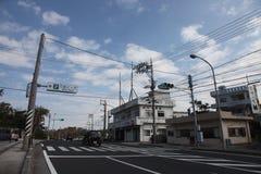 Взгляд улицы в Manzamo, Окинаве Стоковая Фотография RF