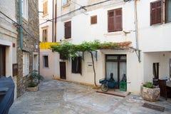 Взгляд улицы в Piran Стоковое Изображение