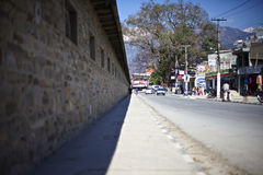 Взгляд улицы в Pokhara Стоковая Фотография RF