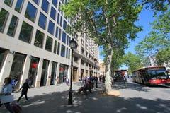 Взгляд улицы города Барселоны Стоковое Изображение