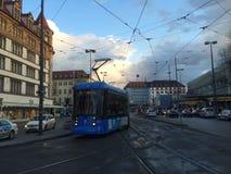 взгляд улицы города Мюнхена стоковые фотографии rf