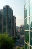 Взгляд улицы города Сеула от верхней части в лете Стоковое Изображение RF