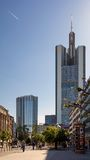 Взгляд улицы города Франкфурта Стоковое Фото