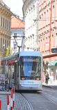 Взгляд улицы Граца с трамваем Стоковое Изображение