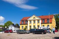 Взгляд улицы исторического финского городка Porvoo Стоковые Фото