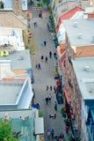 Взгляд улицы Квебека (город) Стоковое фото RF