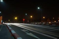 Взгляд улицы ночи и здания 7 Стоковые Фотографии RF