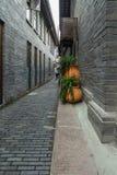 Взгляд улицы переулка ширины Чэнду стоковая фотография