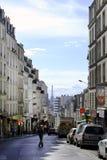 Взгляд улицы Пиренеи в Париже стоковое изображение