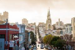 Взгляд улицы Сан-Франциско стоковая фотография rf