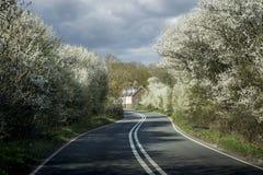 Взгляд улицы сельской местности Кента, Великобритании Стоковая Фотография RF