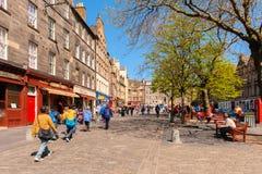 Взгляд улицы Эдинбурга, Шотландии, Великобритании Стоковые Фотографии RF