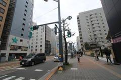 Взгляд улицы Японии Хиросимы Стоковая Фотография RF