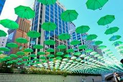 Взгляд улицы Myeongdong Стоковые Изображения RF