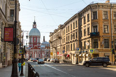 Взгляд улицы Pestel в центре SPb Стоковое фото RF