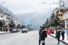 Взгляд улицы Qinggedadao (песня о любви) Стоковые Изображения