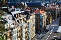 Взгляд улицы San Sebastian во времени дня Баскская страна, Испания Стоковые Фото