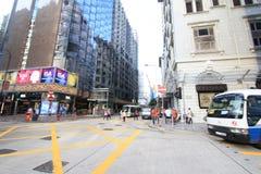 Взгляд улицы Tei мам Гонконга Yau Стоковая Фотография RF