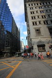 Взгляд улицы Tei мам Гонконга Yau Стоковое фото RF