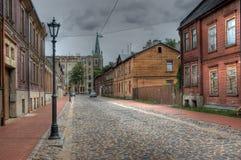 Взгляд улиц в Риге стоковое фото rf