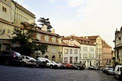 Взгляд улиц города Праги Стоковая Фотография RF
