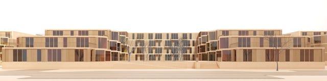 Взгляд фасада на деревянной модели Стоковая Фотография