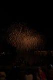 Взгляд фейерверков на озере garda Стоковое фото RF