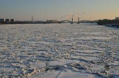 Взгляд финского моста, река Neva Стоковая Фотография