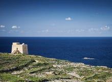 Взгляд форта и побережья острова gozo в Мальте Стоковые Изображения