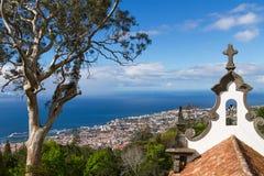 Взгляд Фуншала от Monte Мадейра Португалия Стоковые Изображения