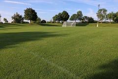 Взгляд футбольного поля боковой линии Стоковое Изображение RF